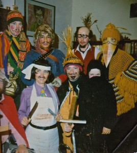INA members meeting at a Christmas party in the  1970's.