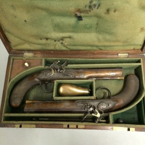 Dueling pistols held in the collection at The Rooms