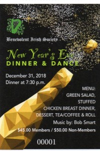 New Year's Eve  with the Benevolent Irish Society